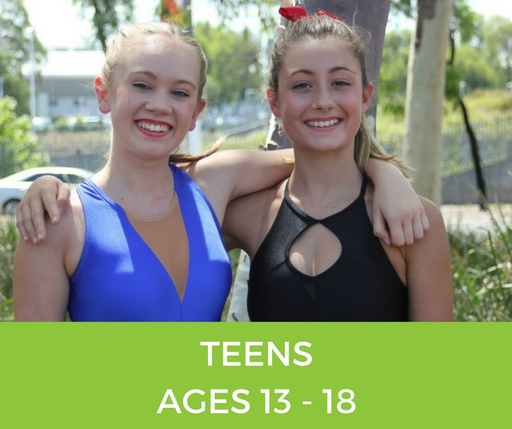 teens Classes at Alstonville Physie - for girls and ladies 3 years old and up
